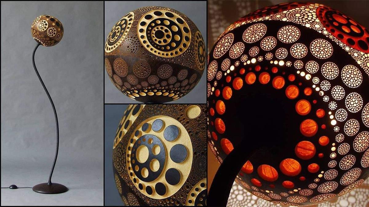 Унікальні лампи з африканського гарбуза
