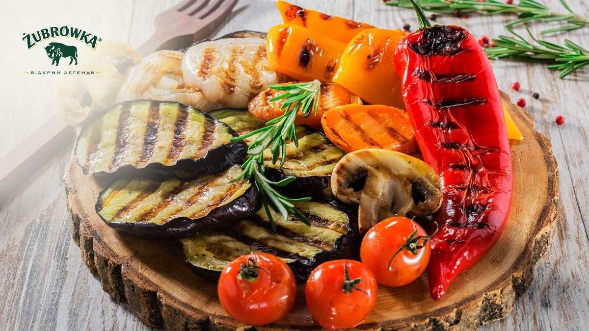 Вкусные овощи на гриле