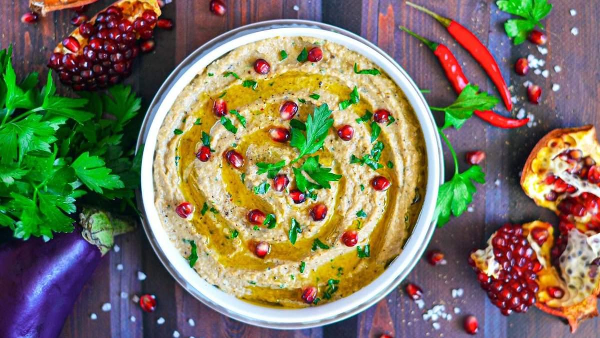 Як приготувати бабагануш: рецепт сезонного овочевого паштету з баклажанів