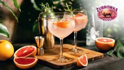 Яркий напиток для летнего релакса: делимся простым рецептом Zubrowka Rose Tonic