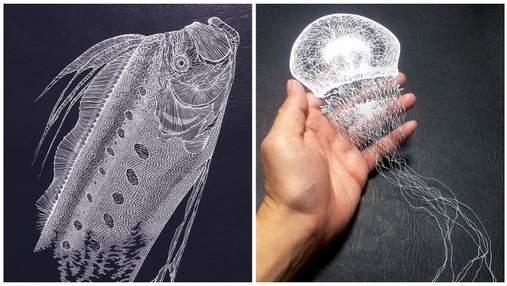 Из одного листа бумаги: японская мастерица вырезает невероятных морских существ