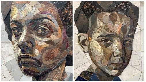 Британець створює мозаїчні портрети перехожих зі звичайного металобрухту