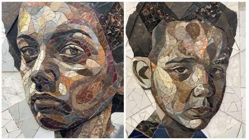 Британец создает мозаичные портреты прохожих из обычного металлолома