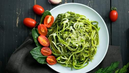 Спагетти из кабачков и куриным филе: оригинальный рецепт овощной пасты