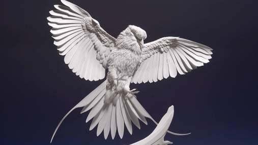 Необычайная реалистичность: художник создает бумажные скульптуры животных