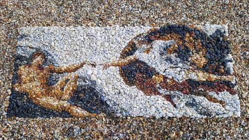 Искусство из гальки: художник создает невероятные портреты из камешков